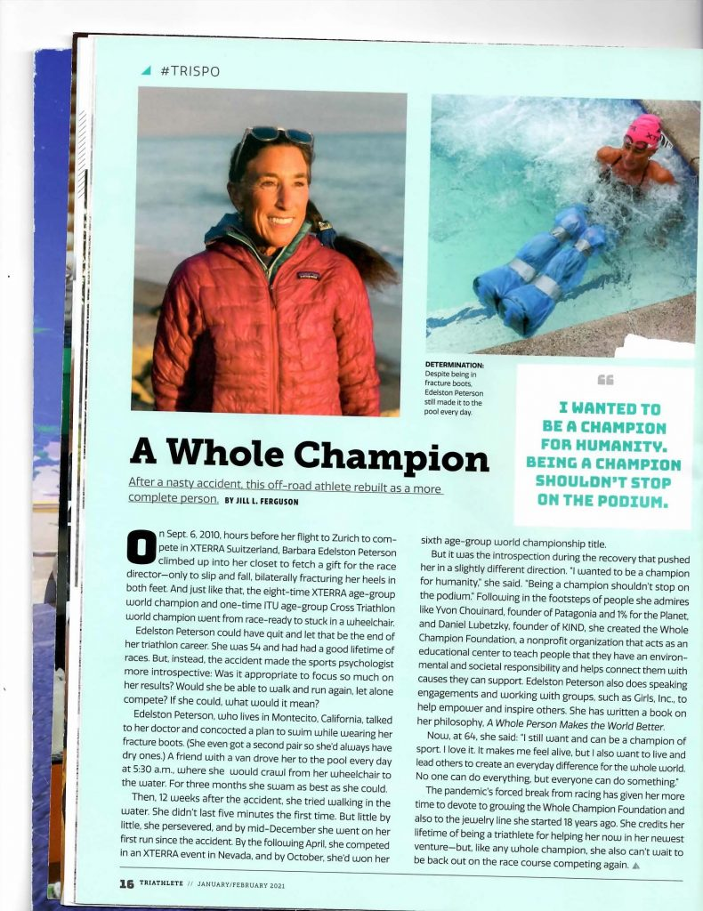 copy of Triathlete article